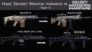Modern Warfare - How to Create Hidden Weapons in the Gunsmith Part 5