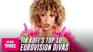 Tia Kofi's Top 10 Eurovision Divas | Eurovision 2021 | BBC Three