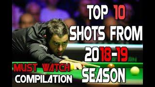 Top 10 Snooker Mind Blowing Shots from 2018/2019 season - Inspirational Snooker Compilations