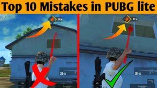 TOP 10 TIPS AND TRICKS FOR PUBG MOBILE LITE || 10 MISTAKES NOOBS MAKE IN PUBG MOBILE LITE