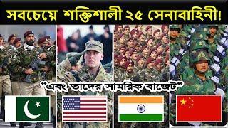 পৃথিবীর সবচেয়ে শক্তিশালী ২৫ সামরিক বাহিনী   Country Info Top 25 Most Powerful Militaries