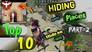 Top 10 Clock Tower Hidden Place In Free Fire || Rank Pusk Hiding Places || Hindi || FhAmEy | Part=2
