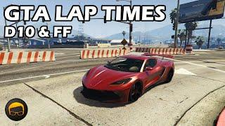 Fastest Sports Cars (Coquette D10 & Penumbra FF) - GTA 5 Best Fully Upgraded Cars Lap Time Countdown