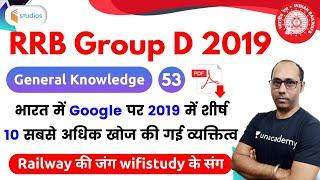7:00 PM - RRB Group D 2019 | GK by Rohit Baba Sir | Top 10 Personalities Search on Google in 2019