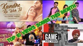 Top 10 views song this month| month (September)