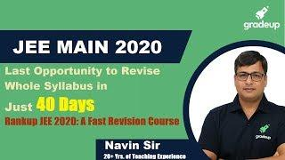 How Rankup JEE will Help in Revision|Crash Course|40 Day Plan|JEE Main April'20|Link in Description