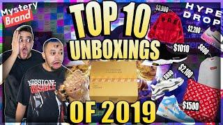 TOP 10 ONLINE HYPEBEAST MYSTERY BOX UNBOXINGS OF 2019! Mystery Brand, Hypedrop and Hybe