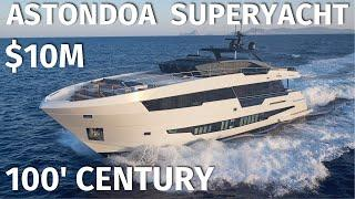 $10,000,000 ASTONDOA 100' CENTURY SuperYacht WALKTHROUGH with SPECS @ FLIBS /Outtakes at the End