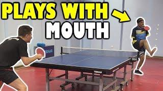 No Arms Table Tennis Player vs TableTennisDaily's Dan!