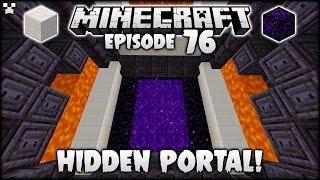 Creating A HIDDEN Minecraft Portal Under LAVA! | Python Plays Minecraft Survival [Episode 76]