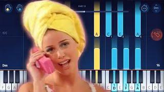 Aqua - Barbie Girl - Piano Tutorial / Piano Cover