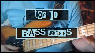 Top 10 Bass Riffs Of All Time | HOW TO PLAY BASS | Tool Rage Against The Machine Green Day + More!