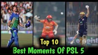 PSL 5 TOP 10 MOMENT ( TOP 10 MOMENT OF PSL SEASON 5 2020 ) BEST MOMENT OF PSL 2020