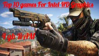 Top 10 Games for Intel HD Graphics | Intel HD 2000 | Work without Graphics card in 4 gb RAM