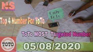 05/08/2020 ToTo Special Suggested 4D Number||Top Number ToTo||Toto 4d Number |Full Number Toto||