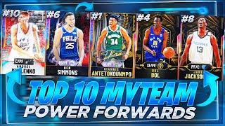 THE TOP 10 MOST OVERPOWERED POWER FORWARDS IN NBA 2K20 MYTEAM!! NBA 2K20 BEST POWER FORWARDS!!