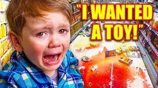 KIDS TEMPER TANTRUMS In Stores! (Walmart Freakout, Smart Dad, Restaurant Meltdown)