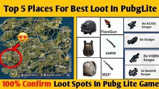 Top 5 Place For Best Loot In Pubg Mobile Lite | Best Loot Places For Awesome Loot In Pubg Lite
