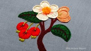 3D Stamp Hand Embroidery Work,Turkish Hand Embroidery Pattern,Satin Stitch Embroidery-119, #Miss_A