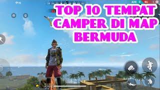 TOP 10 TEMPAT CAMPER DI BERMUDA AGAR BOOYAH | HIDING PLACE FREE FIRE #1