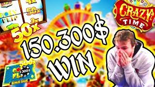 Xposed 150.300$ Win on Crazy Time - TOP 10 Biggest Wins of the Week #11