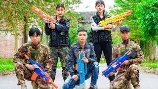 Xgirl Nerf War: Cherry's Dream X Girl Nerf Guns Masked Criminal Group