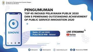 [LIVE] PENGUMUMAN Top 45 dan 5 Pemenang Outstanding Achievement of Public Service 2020
