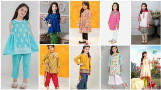 Trending top brand baby girl dress design mid summer || lawn cotton summer Eid baby dress designs