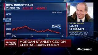 Morgan Stanley CEO on employee job security, Fed policy