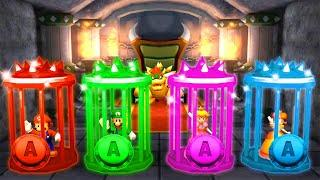 Mario Party The Top 100 MiniGames - Peach Vs Mario Vs Luigi Vs Rosalina (Master Cpu)