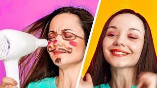 EASY BEAUTY HACKS FOR GIRLS! || Useful Beauty Routine Tips by 123 Go! Gold