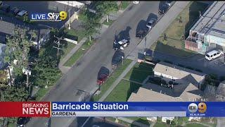 Suspected Bank Robber Barricaded in Gardena Building