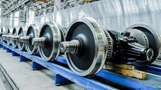 Fantastic train wheel production process and other amazing making process. Incredible technology.