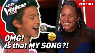 TOP 10 | Beautiful ALICIA KEYS songs covered in The Voice Kids!