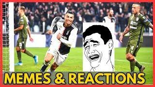 Juventus vs Cagliari 4-0 2020 (Memes & Reactions) of goals and highlights in Serie A Calcio CR7
