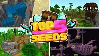 Minecraft Bedrock | TOP 5 BEST SEEDS | BAMBOO BLACKSMITHS! (PE, Xbox, PS4, Switch & W10)
