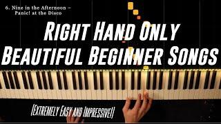 Top 10 ONE HAND Beginner Piano Pieces (Beautiful!)