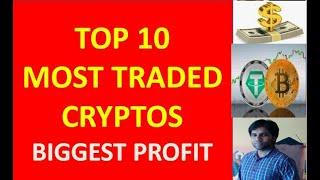 Top 10 most traded crypto coins last month : Best crypto coins to trade : Best alt coins
