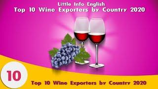 Top 10 wine  Exporters by Country 2020