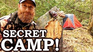 STEALTH CAMPING like a CRIMINAL (in lock-down!)   Rock Cooked Fish