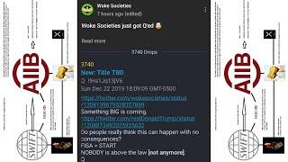 Q. Things Are Getting REAL. Woke Society Mention By Q!