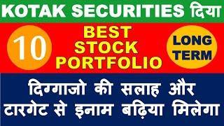 Kotak securities best stocks list in market crash | multibagger shares 2020 India | buy top stocks