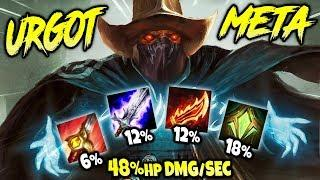 URGOT CAN DO 48% HP DMG/SEC x 3 CHAMPIONS | NEW META SEASON 10 BUILD | LoL Jungle Urgot S10 Gameplay