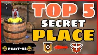 FreeFire || Top 5 Secret Place FreeFire || Part -12 Garena Free Fire -4G Gamers