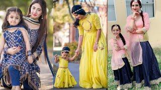 Matching mother daughter dresses 2020 || Mom and kid outfit ideas