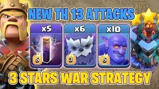 6 Max Yeti + 5 Bat Spell + 10 Bowler :: NEW TH13 WAR 3 STAR ATTACK STRATEGY 2020   Clash Of Clans