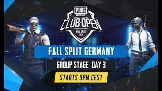 [DE] PMCO Germany Group Stage Day 3 | Fall Split | PUBG MOBILE CLUB OPEN 2020