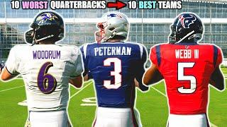 What if The 10 WORST Quarterbacks Started on The 10 BEST Teams? Madden 20 Franchise Experiment