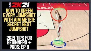 NBA 2K21 How to Shoot : How to Green + Make Every Shot 2K21 Shot Meter Tutorial ! Best Jumpshots #7