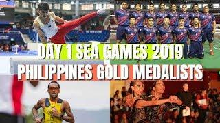 DEC 1 - DAY 1 PHILIPPINES GOLD MEDALISTS AT SEA GAMES 2019  #SEAGames2019 #WeWinAsOne